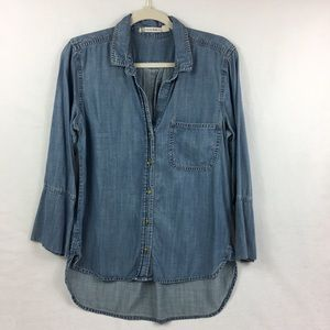 Chelsea & Violet Chambray top M Anthropologie